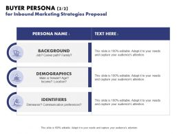 Buyer Persona For Inbound Marketing Strategies Proposal Ppt Powerpoint Show