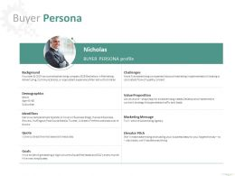 Buyer Persona Identifiers Ppt Powerpoint Presentation File Styles