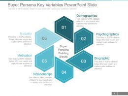 Buyer Persona Key Variables Powerpoint Slide