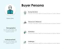 Buyer Persona Motivations Ppt Powerpoint Presentation Example