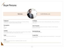 Buyer Persona Ppt Powerpoint Presentation Model Graphics Template