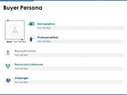 Buyer Persona Resources And Influences Ppt Powerpoint Presentation Pictures Example