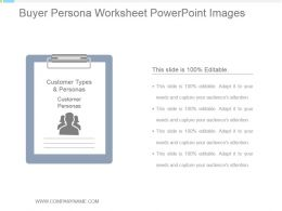 Buyer Persona Worksheet Powerpoint Images