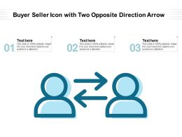 Buyer Seller Icon With Two Opposite Direction Arrow