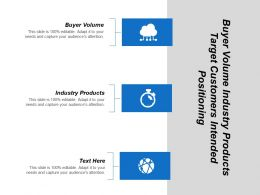 Buyer Volume Industry Products Target Customers Intended Positioning