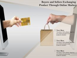 Buyers And Sellers Exchanging Product Through Online Market