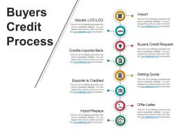Buyers Credit Process Powerpoint Templates