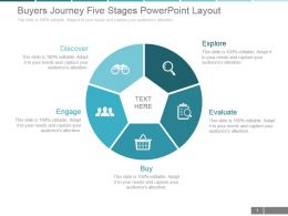 Buyers Journey Five Stages Powerpoint Layout