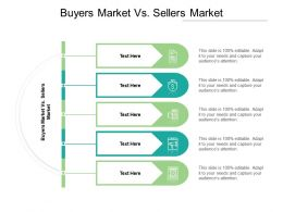 Buyers Market Vs Sellers Market Ppt Powerpoint Presentation Infographics Cpb