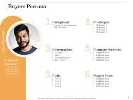 Buyers Persona Challenges Ppt Powerpoint Presentation Gallery Design Templates