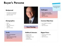 Buyers Persona Common Objections Ppt Powerpoint Presentation Icon Inspiration