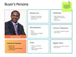 Buyers Persona Demographics A458 Ppt Powerpoint Presentation Infographics Infographic