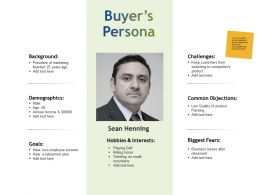 Buyers Persona Demographics Background Ppt Powerpoint Presentation Infographics
