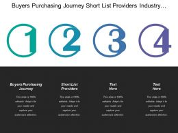 Buyers Purchasing Journey Short List Providers Industry Challenge