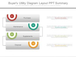 Buyers Utility Diagram Layout Ppt Summary