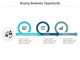 Buying Business Opportunity Ppt Powerpoint Presentation Gallery Smartart Cpb