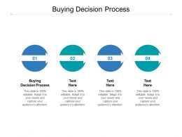 Buying Decision Process Ppt Powerpoint Presentation Infographic Template Demonstration Cpb