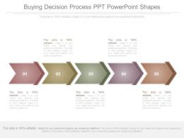 Buying Decision Process Ppt Powerpoint Shapes