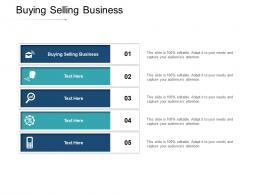 Buying Selling Business Ppt Powerpoint Presentation Infographic Template Influencers Cpb