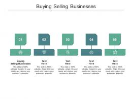 Buying Selling Businesses Ppt Powerpoint Presentation Summary Clipart Images Cpb