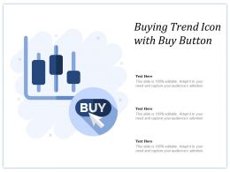 Buying Trend Icon With Buy Button