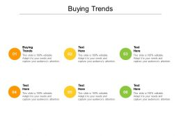 Buying Trends Ppt Powerpoint Presentation Slides Infographics Cpb