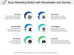Buzz Marketing Button With Remarkable And Secrets