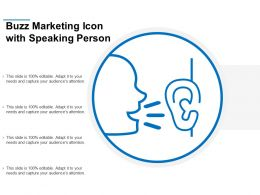 Buzz Marketing Icon With Speaking Person