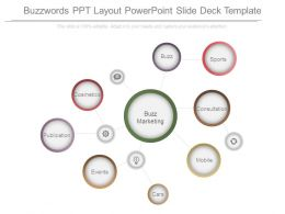 Buzzwords Ppt Layout Powerpoint Slide Deck Template