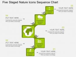bv Five Staged Nature Icons Sequence Chart Flat Powerpoint Design