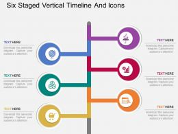 bw Six Staged Vertical Timeline And Icons Flat Powerpoint Design