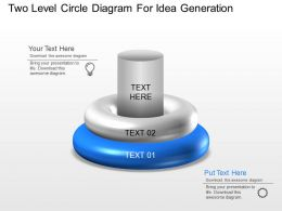 bw_two_level_circle_diagram_for_idea_generation_powerpoint_template_Slide01