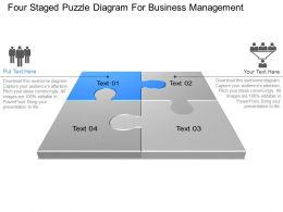Bx Four Staged Puzzle Diagram For Business Management Powerpoint Template Slide