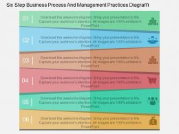 bx Six Step Business Process And Management Practices Diagram Flat Powerpoint Design