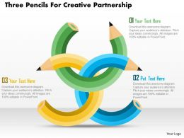 Bx Three Pencils For Creative Partnership Powerpoint Template