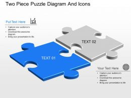 bx Two Piece Puzzle Diagram And Icons Powerpoint Template