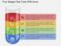 by_four_staged_test_tube_with_icons_flat_powerpoint_design_Slide01