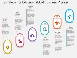 by Six Steps For Educational And Business Process Flat Powerpoint Design