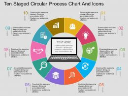 by Ten Staged Circular Process Chart And Icons Flat Powerpoint Design
