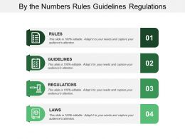 By The Numbers Rules Guidelines Regulations