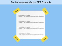 By The Numbers Vector Ppt Example