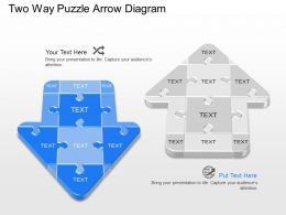 by Two Way Puzzle Arrow Diagram Powerpoint Template