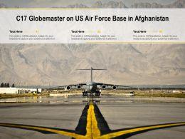 C17 Globemaster On US Air Force Base In Afghanistan