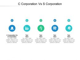 C Corporation Vs S Corporation Ppt Powerpoint Presentation Example Cpb