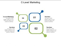 C Level Marketing Ppt Powerpoint Presentation Pictures Graphics Cpb
