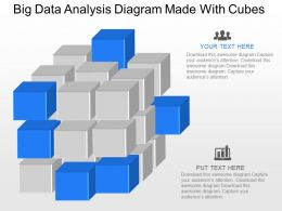 ca Big Data Analysis Diagram Made With Cubes Powerpoint Template