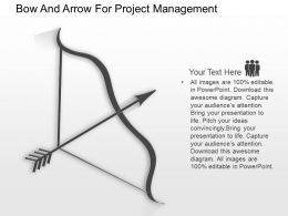 ca Bow And Arrow For Project Management Powerpoint Template