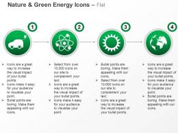 Ca Car Nuclear Energy Symbol With Sun And Globe For Green Energy Ppt Icons Graphics