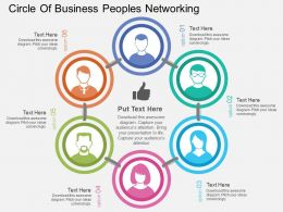 Ca Circle Of Business Peoples Networking Flat Powerpoint Design
