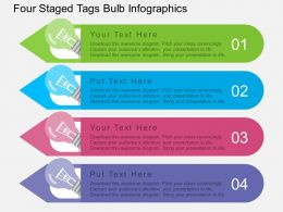 ca Four Staged Tags Bulb Infographics Flat Powerpoint Design
